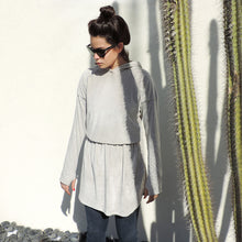 Load image into Gallery viewer, WOMAN GREY HOODIE DRESS