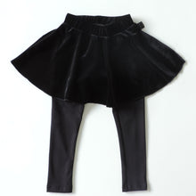 Load image into Gallery viewer, BLACK VELVET LEGGINGS SKIRT