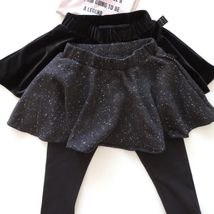 BLACK SPACE LEGGINGS SKIRT