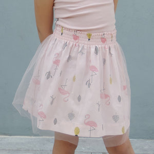 MILA FLAMINGO TULLE DRESS