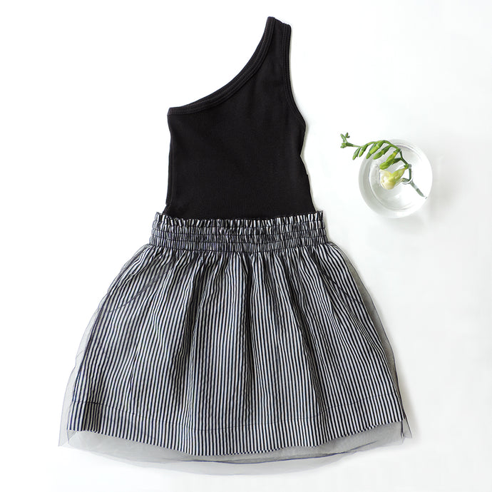 MILA STRIPED TULLE DRESS
