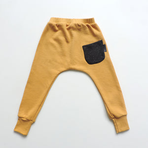 SET OF 2 PANTS HONEY AND BLACK