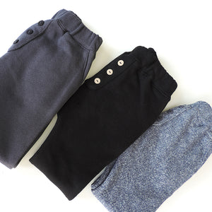 BUTTON PANTS GREY TERRY
