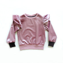 Load image into Gallery viewer, ZOE PINK VELVET SWEATSHIRT
