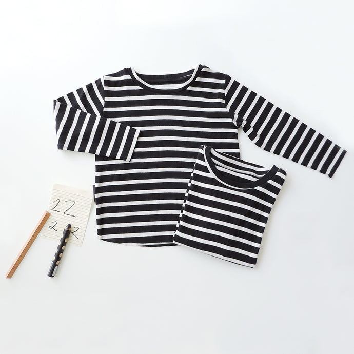 SET OF 2 STRIPED TEES