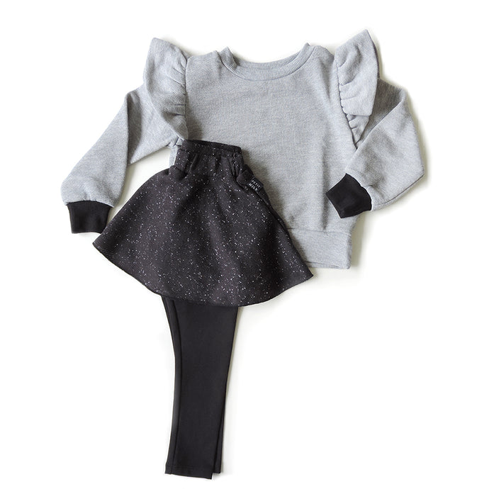 SET OF GREY SWEATSHIRT AND SKIRT