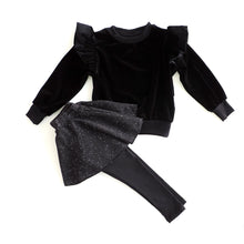 Load image into Gallery viewer, SET OF VELVET SWEATSHIRT AND SPACE SKIRT