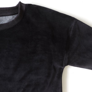BLACK VELVET SWEATSHIRT