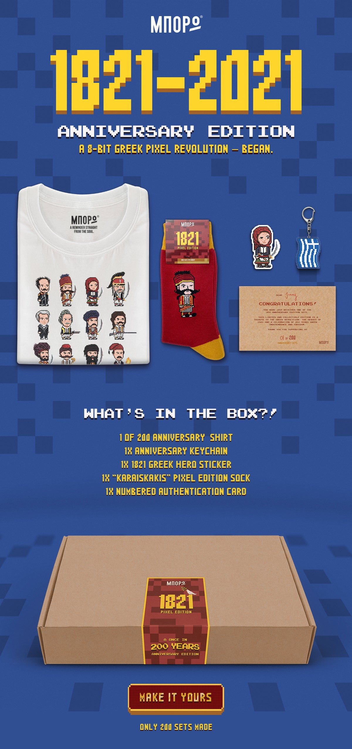 1821-2021 anniversary limited edition pixel art set overview