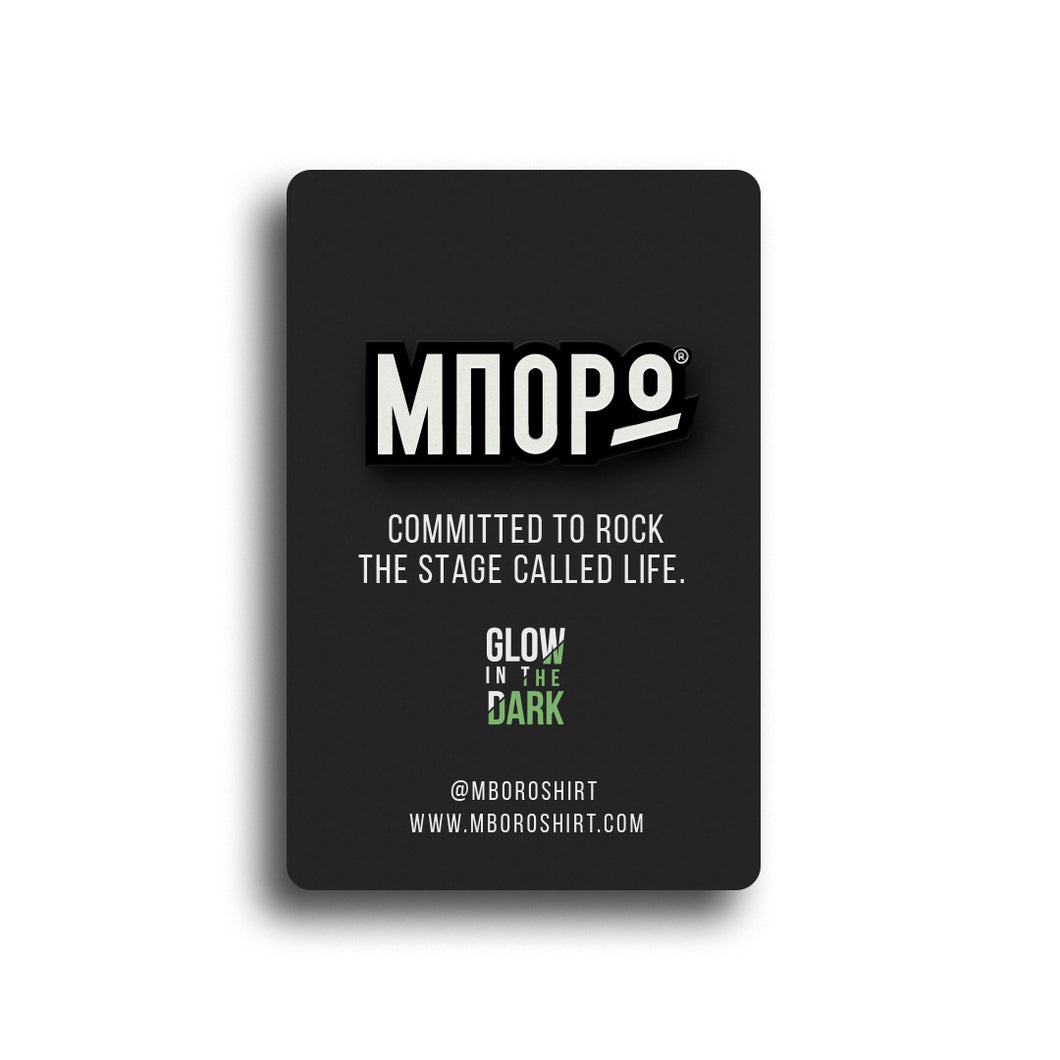 MBORO Pin - Yes, it glows in the dark!