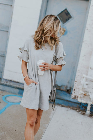 Sweet Casual Round Neck Dress