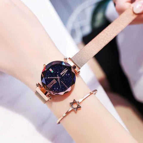 Fashion Starry Sky Magnet Watch