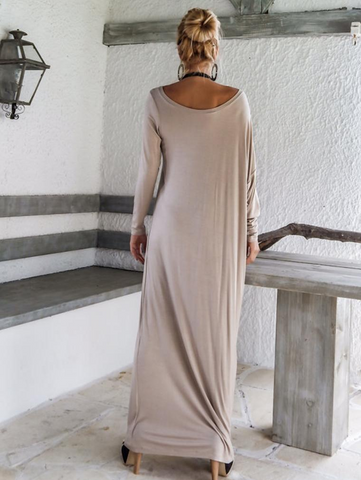 One Shoulder Elegant Long Sleeve Evening Dress