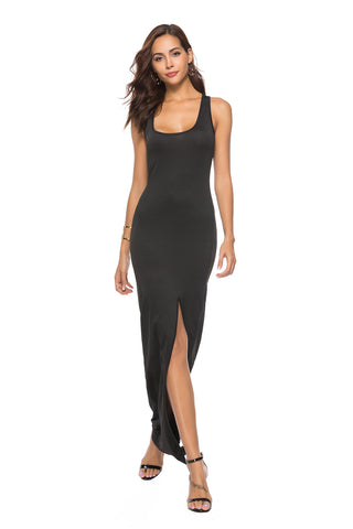 Slit-Front Bodycon Dress