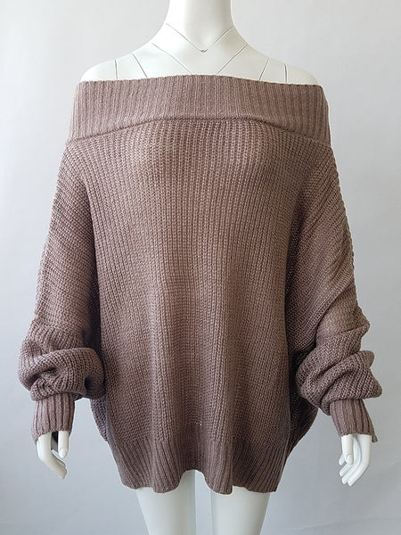 Off the Shoulder Loose Sweater
