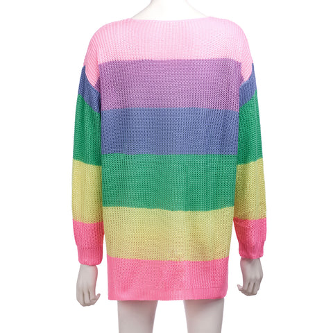 Multi-Wear Rainbow Color Sweater