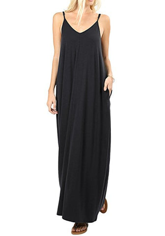 Casual Loose Maxi Cami Dress