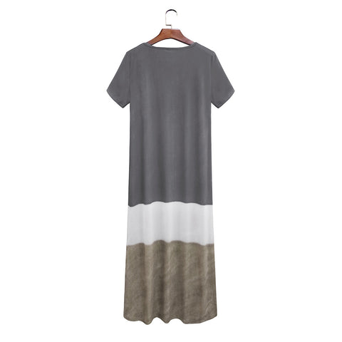 Casual Loose Striped Maxi Dress