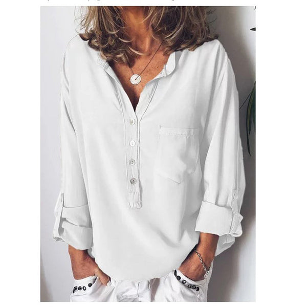 Casual Loose V-neck Shirt
