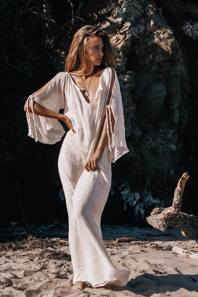 Casual Off-the-Shoulder Maxi Dress