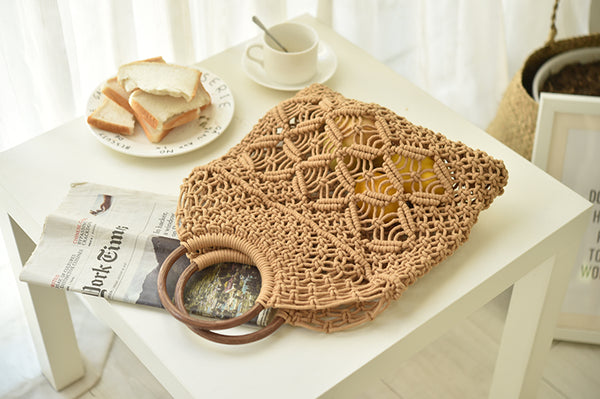 Chic Cotton Woven Bag