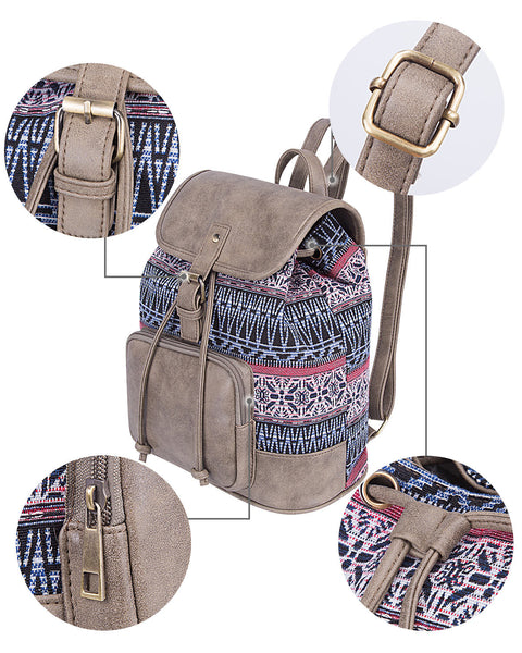 Chic Vintage Canvas Backpack Bag