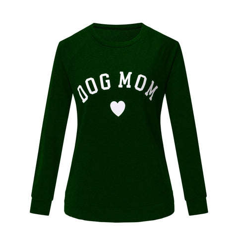 DOG MOM Letter Printed Sweater