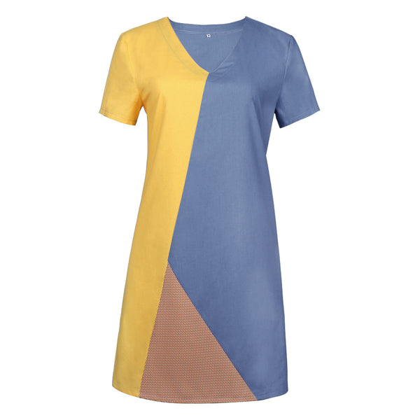 Fashion Casual Loose V Neck Dress