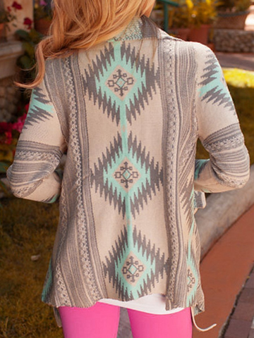 Fashion Women Printed Cardigans