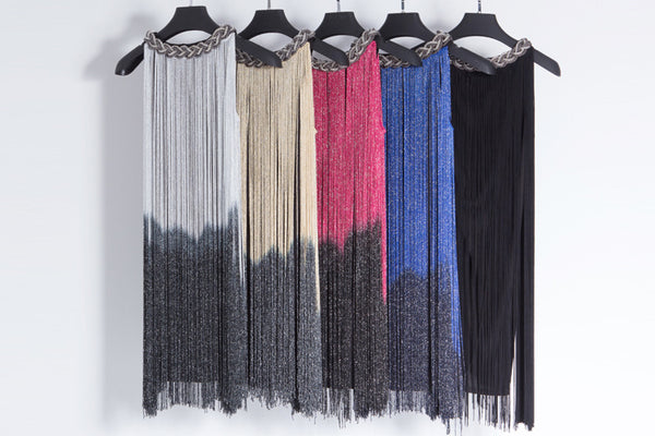 Gradient Fringe Skirt