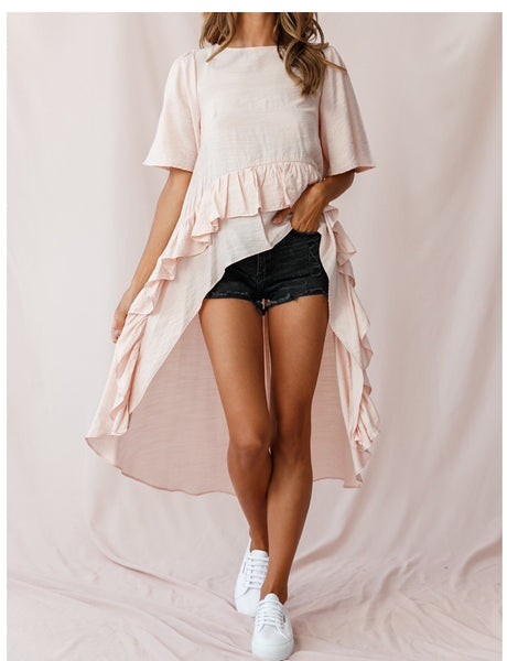High-Low Ruffle Dress