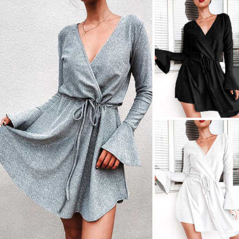 Horn Sleeve Dress