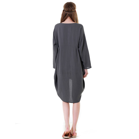 Irregular Gray Vintage Dress
