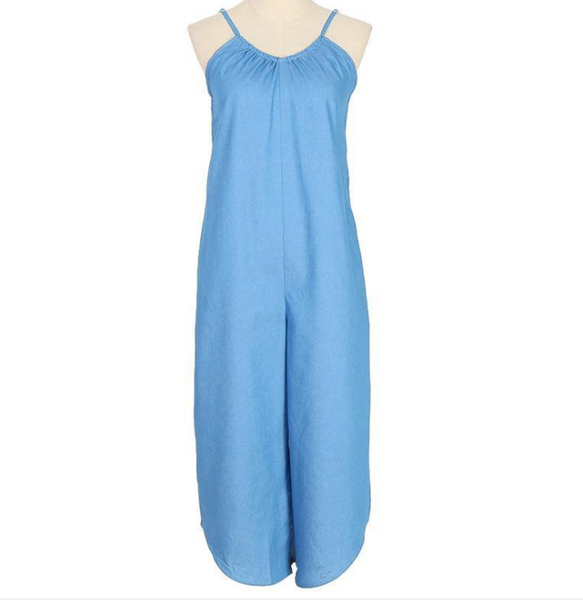 Light Blue Sexy Jumpsuit