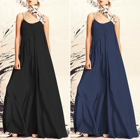 Loose Backless Cami Maxi Dress