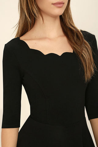 Mid Sleeve Dress