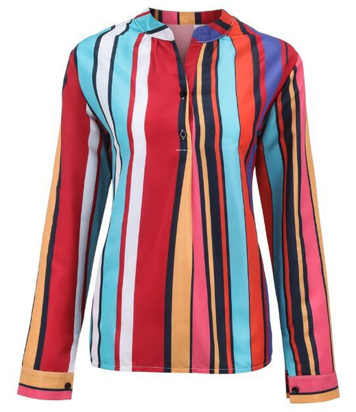 Multicolor Striped Print Shirt