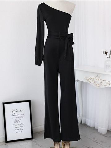 One-Shoulder Jumpsuit Trousers
