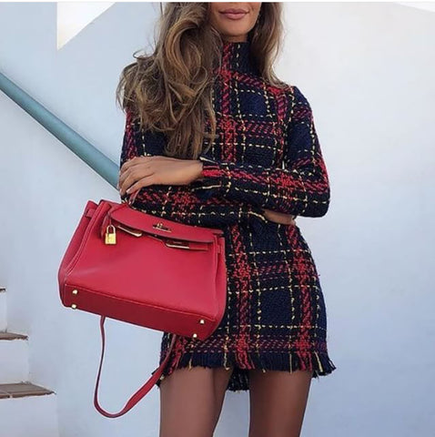 Plaid Striped Dress