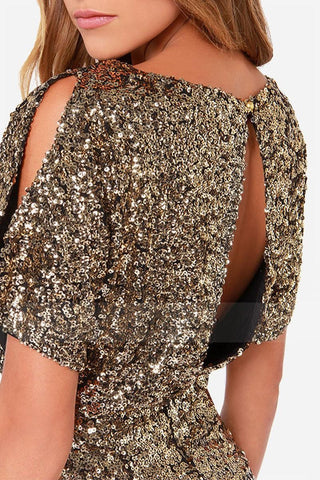 Sequined Slim Fit Hip Dress