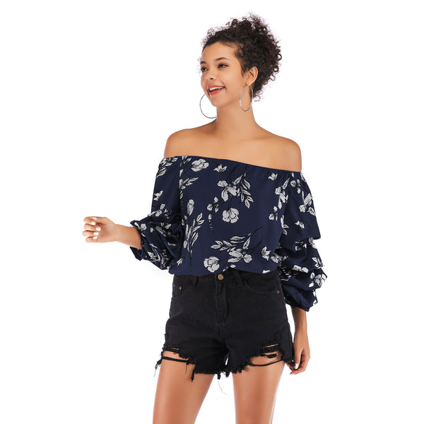 Sexy Off-the-Shoulder Leopard Print Top