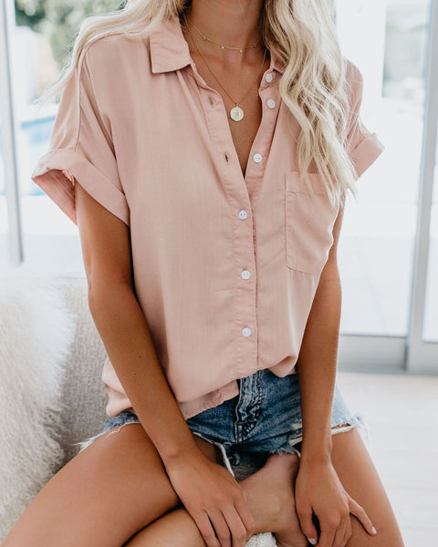 V-neck button shirt