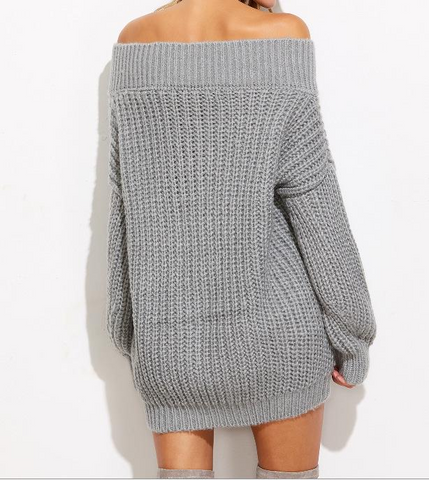 Trendy Long Sleeve Knit Sweater Coat