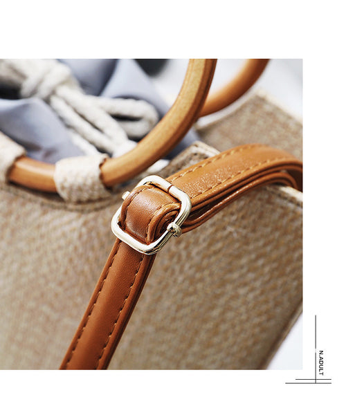 Wood Handbag Premium Straw Bag