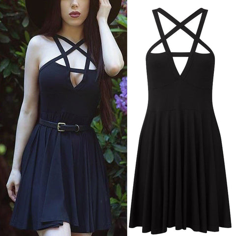 Wrapped Chest Strap Dress
