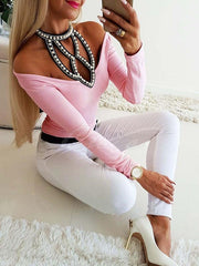 Beaded Long Sleeves Shirt