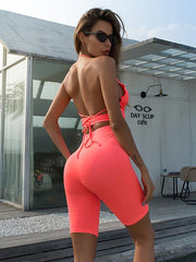 Halter-neck High Waist Tight Yoga&Gym Suits