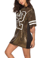 Chic Sequin Letter T-shirt