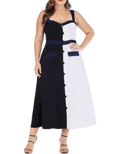 Contrast Striped Loose Dress