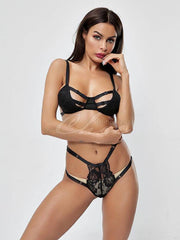 Bandage Split-Joint Split Teddy Lingerie Set